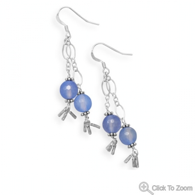 SKU 21873 - a Agate earrings Jewelry Design image