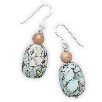 SKU 21885 - a Multi-stone earrings Jewelry Design image