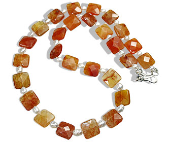 SKU 14746 - a Carnelian necklaces Jewelry Design image