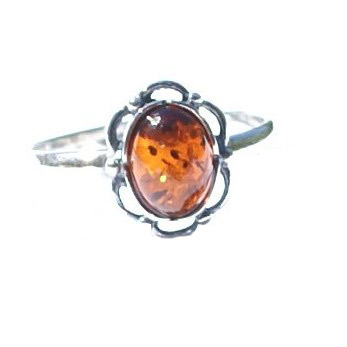 SKU 15794 - a Amber rings Jewelry Design image