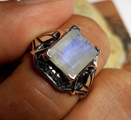 SKU 22137 - a Moonstone rings Jewelry Design image