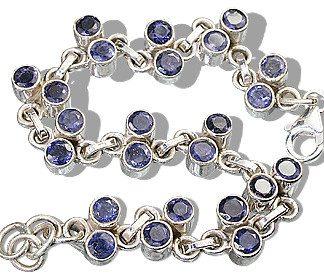 Blue Iolite Silver Setting Brides-maids Bracelets 7.5 Inches