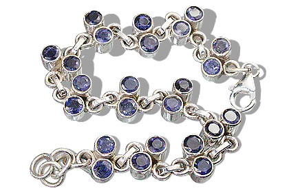 Blue Iolite Silver Setting Brides-maids Bracelets 7.5 Inches