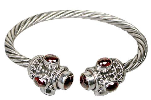 Red Garnet Silver Setting Ethnic Bracelets