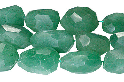 Green Aventurine Beaded Faceted Beads 16 Inches