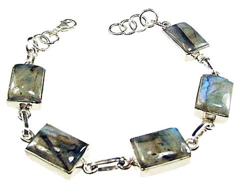 Gray Labradorite Silver Setting Bracelets