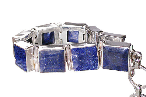 Blue Sapphire Silver Setting Bracelets 8 Inches