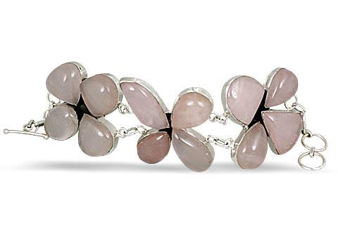 Ethnic Rose Quartz Bracelets