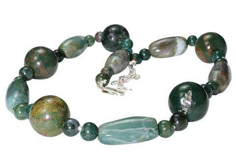 Chunky Bloodstone Necklaces 10