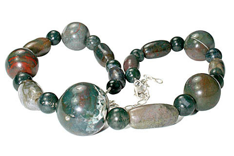 Chunky Bloodstone Necklaces 11