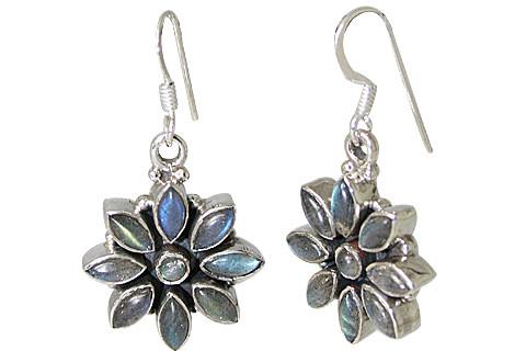 Flower Labradorite Earrings