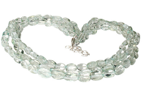 Green Green Amethyst Beaded Multistrand Necklaces 18 Inches