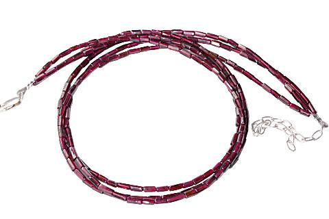 Multistrand Garnet Necklaces 2