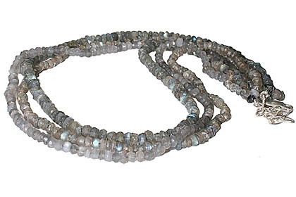 Gray Labradorite Beaded Multistrand Necklaces 15 Inches
