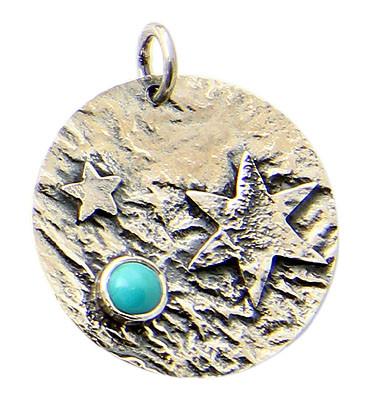 Petite Turquoise Celestial Pendant