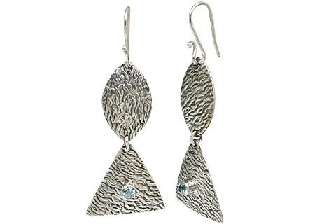 Aquamarine New Wave Earrings