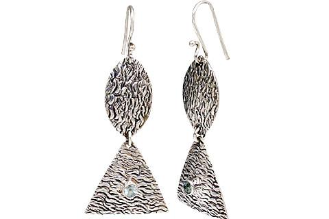 Art-deco Blue Topaz Earrings 4