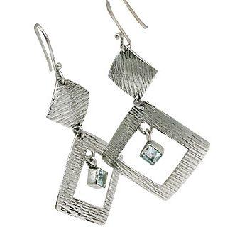 Art-deco Aquamarine Earrings 2