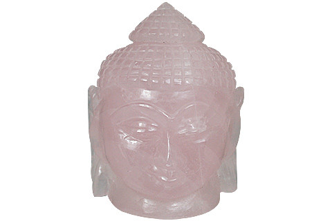 Pink Rose Quartz Beaded Buddha Healing 3 Inches