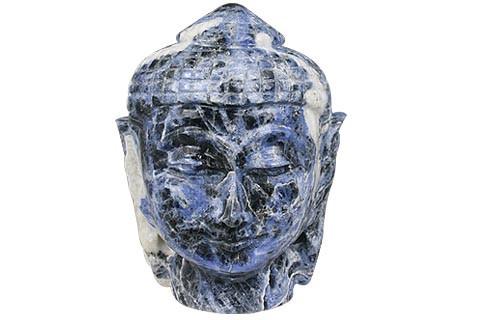 Blue Sodalite Beaded Buddha Healing 3 Inches