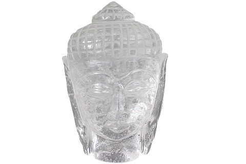 White Crystal Beaded Buddha Healing 3 Inches