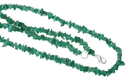 Green Aventurine Beaded Chipped Necklaces 18 Inches