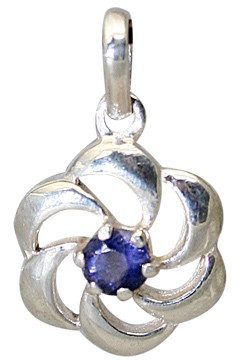 Flower Iolite Pendants 2