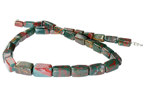 Green Red Bloodstone Beaded Choker Necklaces 16 Inches