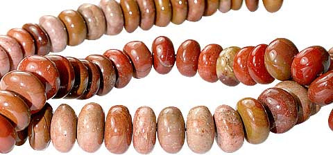 Red Jasper Beaded Beads 16.5 Inches