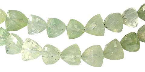 Prehnite Triangle Beads (5-12mm)