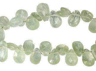 Prehnite Drop Beads (7-10mm)
