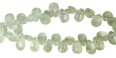 Prehnite Drop Beads (7-10mm)