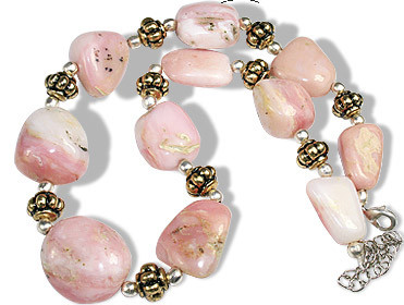 Pink Pink Opal Beaded Chunky Necklaces 15 Inches