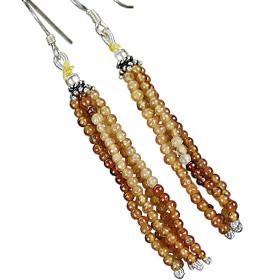 Multistrand Hessonite Earrings