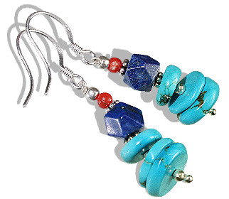 Ethnic Turquoise Earrings