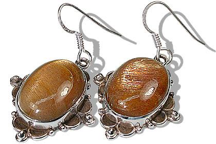 Oval Sunstone Earrings