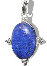 Blue Lapis Lazuli Silver Setting American-southwest Pendants 1.5 Inches