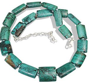 Blue Green Multi-color Turquoise Beaded American-southwest Necklaces 16 Inches