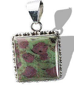 Green Pink Zosite Silver Setting American-southwest Pendants 1 Inches