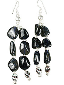 Ethnic Iolite Earrings