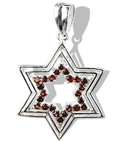 Star Garnet Pendants