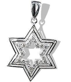 White Topaz Star Of David Pendant