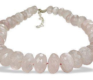 Pink Rose Quartz Beaded Necklaces 16 Inches