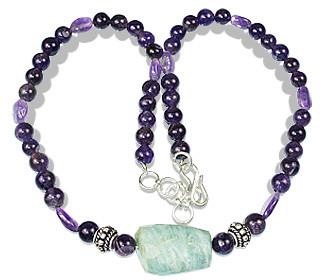 Amethyst And Aquamarine Necklace