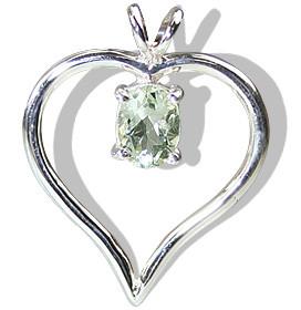 Heart Green Amethyst Pendants