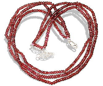 Red Garnet Beaded Multistrand Necklaces 16 Inches