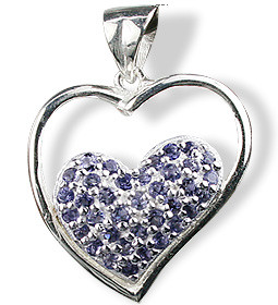 Heart Iolite Pendants 2