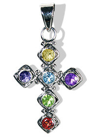 Cross Multi-stone Pendants
