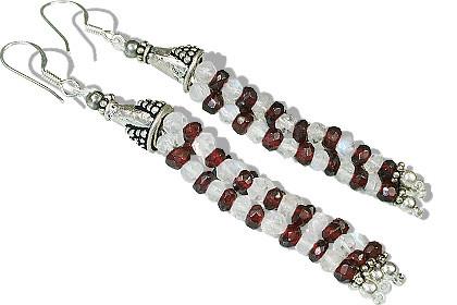 Multistrand Garnet Earrings 3