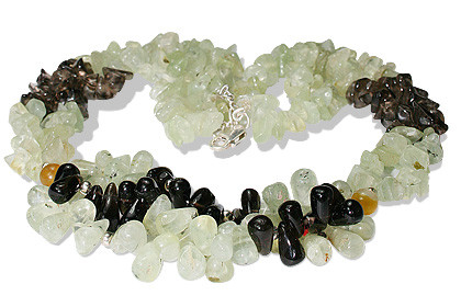 Chipped Prehnite Necklaces